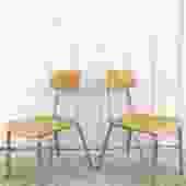 Pair Heywood Wakefield School Chairs