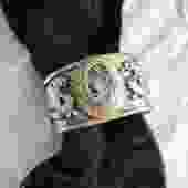 White Rutilated Quartz Dragon Cuff
