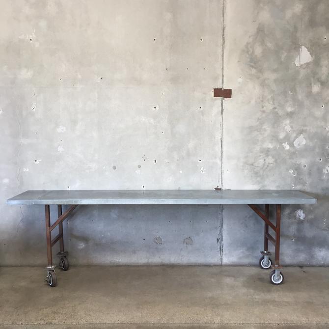 Vintage Industrial Rolling Long Table