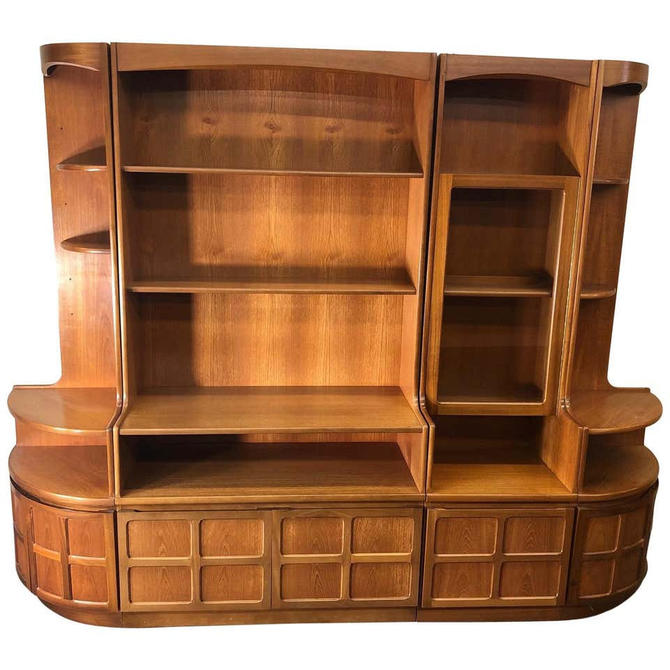 Midcentury Teak Modular 4 Part Wall Unit by Nathan Furniture by RetroPassion21