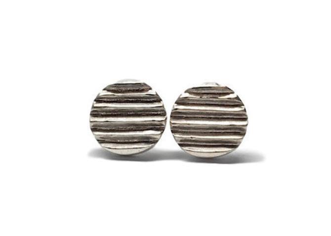 Sterling silver disc earrings Silver circle studs Simple stud earrings by Sarah Cecelia by SarahCecelia