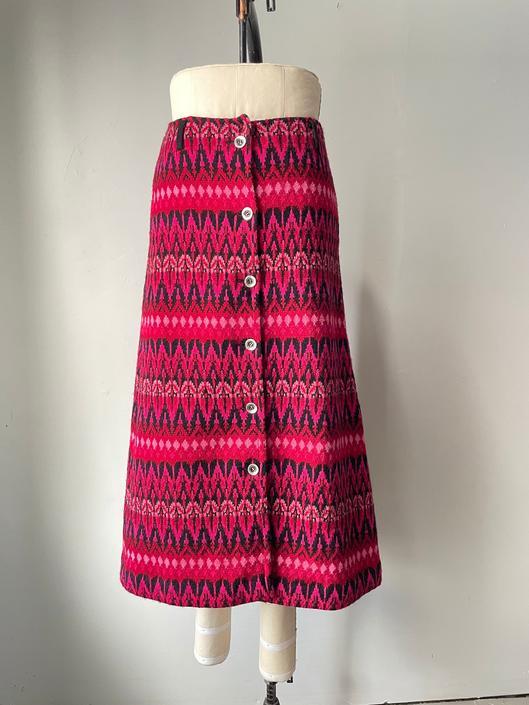 1970s Maxi Sweater Skirt Icelandic Wool Knit S by dejavintageboutique