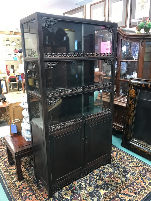 Vintage Chinese Rosewood Curio Cabinet Solid Wood By Thriftcityfurniture From Thrift City Furniture Of San Jose Ca Attic