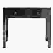 Chinese Oriental Black Lacquer Two Drawers Side Table cs5157S