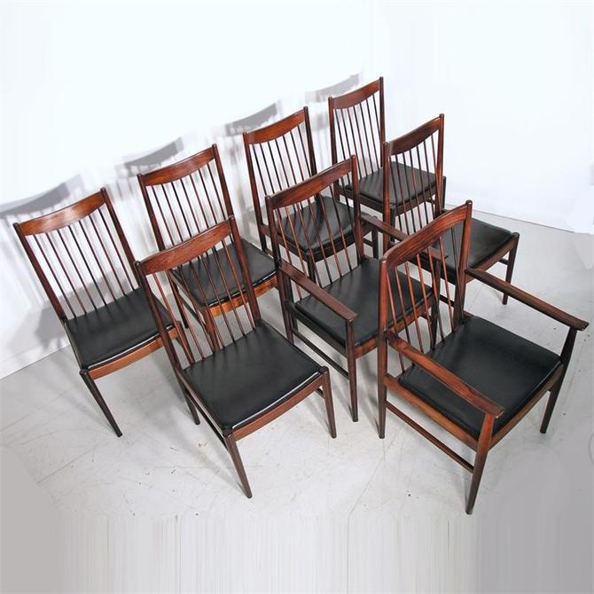 Eight Arne Vodder Rosewood Dining Chairs for Sibast