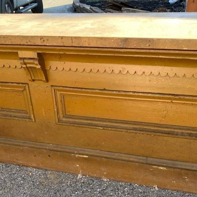 Warm Golden Rod Colored Country-store Counter