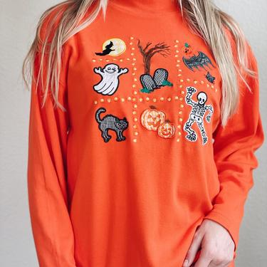 Vintage Halloween Sweater Turtleneck by MadroneClothing