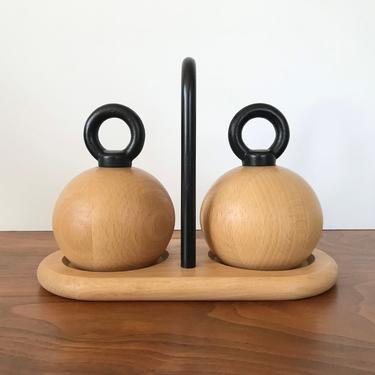 Bodum Danish Modern Salt and Pepper Mills with Stand by Nissen and Jorgensen by TheThriftyScout
