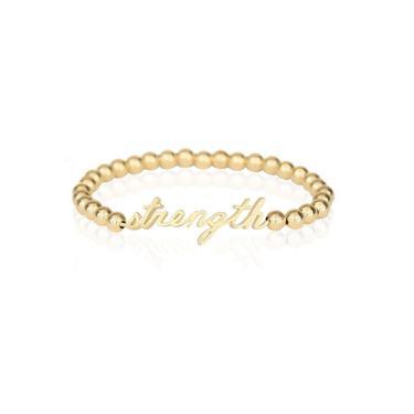 Godfrey and Rose - Strength Bead Bracelet - GV charm/GF Beads