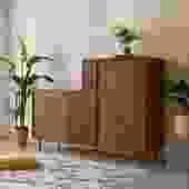 Rare Mengal L Shape Dresser w/Hidden Shelf Pushout