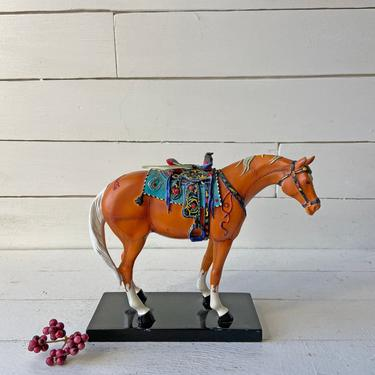 """Trail Of Painted Ponies """"Happy Trails"""" #1473 RETIRED // Vintage Rustic, Southwest Horse // Vintage Horse Collector, Lover // Perfect Gift by CuriouslyCuratedShop"""
