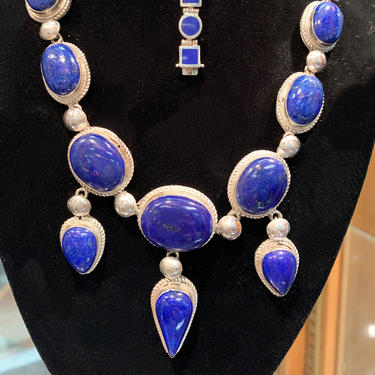 Lapis and Sterling Necklace