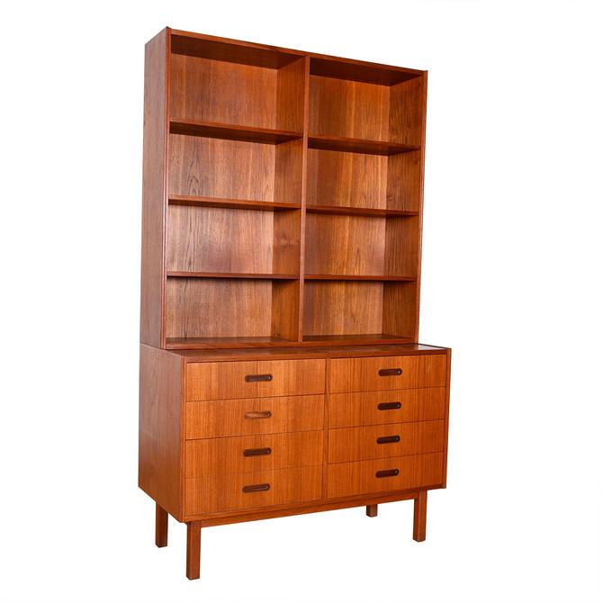 Danish Teak 8-Drawer Chest + Bookcase Top