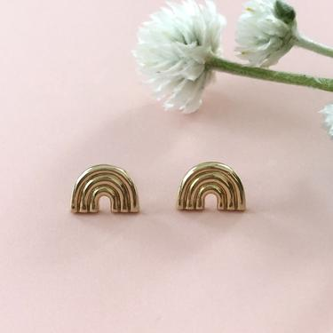 Arco Studs (silver & gold)