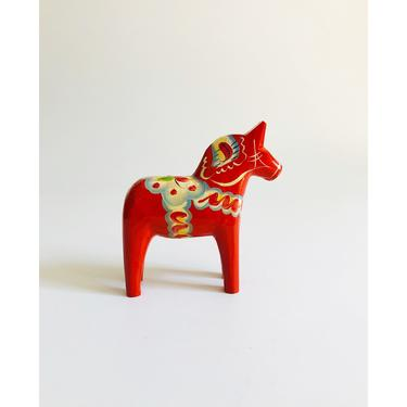 "Vintage 5"" Red Swedish Dala Horse by Grannas Olsson by SergeantSailor"
