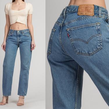 "Vintage Levi's 501 Jeans - Men's Small, Women's Medium, 31"" | 90s Unisex Denim Straight Leg High Waist Boyfriend Jeans by FlyingAppleVintage"