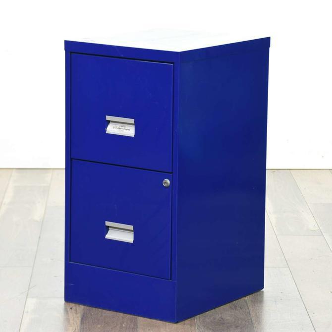 Royal Blue 2 Drawer File Cabinet