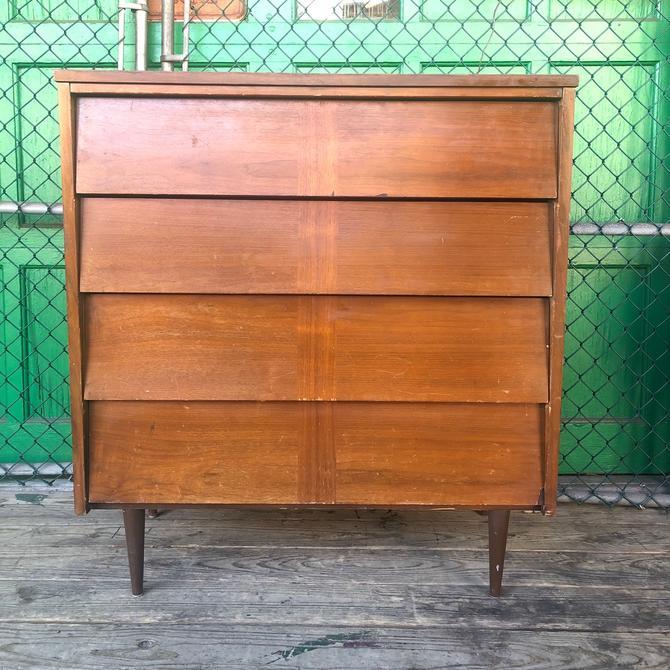 Mid century modern four drawer Highboy dresser