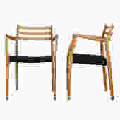 Pair of Danish Niels Moller #62 Accent Arm Chairs
