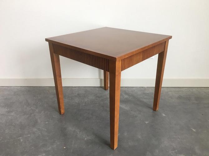 vintage mid century square accent table.