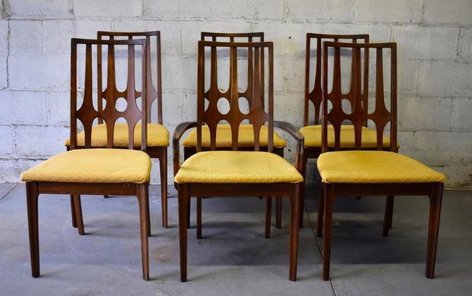 Mid Century Modern Walnut Dining Chairs Brasilia