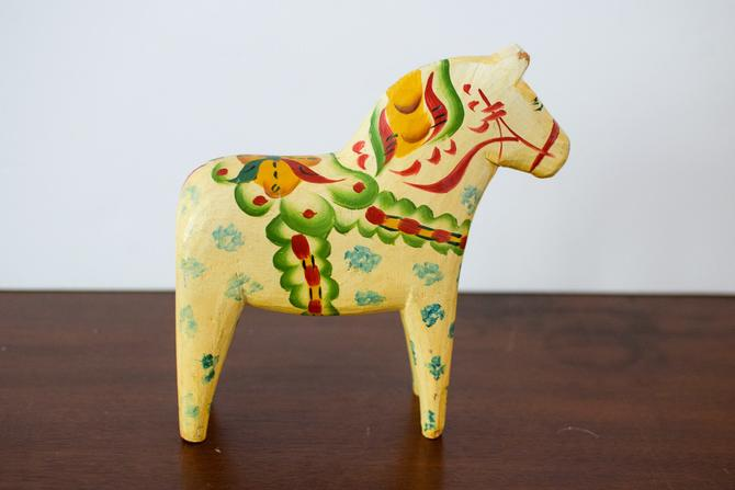 Vintage Swedish Dala / Dalecarlian Horse by CapitolVintageCharm