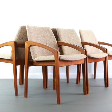 Six Teak Danish Modern Dining Chairs by Kai Kristiansen, produced by KS Møbler by ABTModern