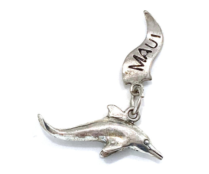 Vintage Sterling Silver Maui Hawaii Dolphin Charm by DressingVintage