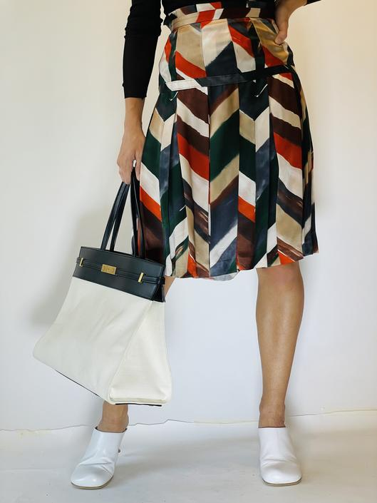 Salvatore Ferragamo Printed Skirt, Size 42