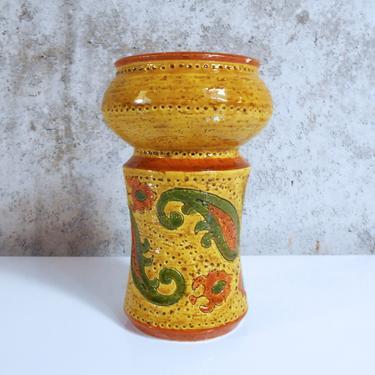 Bitossi Paisley Candle Holder or Bud Vase by Aldo Londi for Bitossi - Liberty Pattern by MostlyMidModern