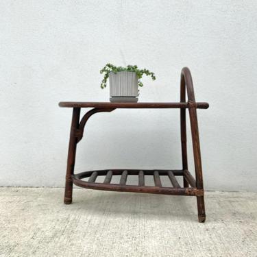 Dark Bamboo & Laminate Top Side Table