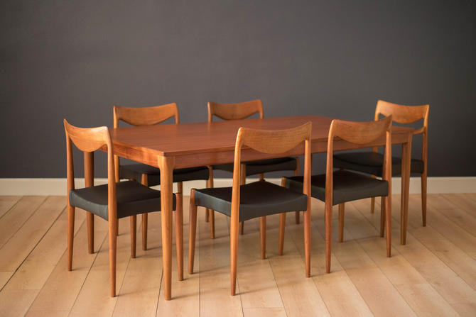 Vintage Set of Six Teak Dining Chairs by Rastad & Relling for Gustav Bahus by MidcenturyMaddist