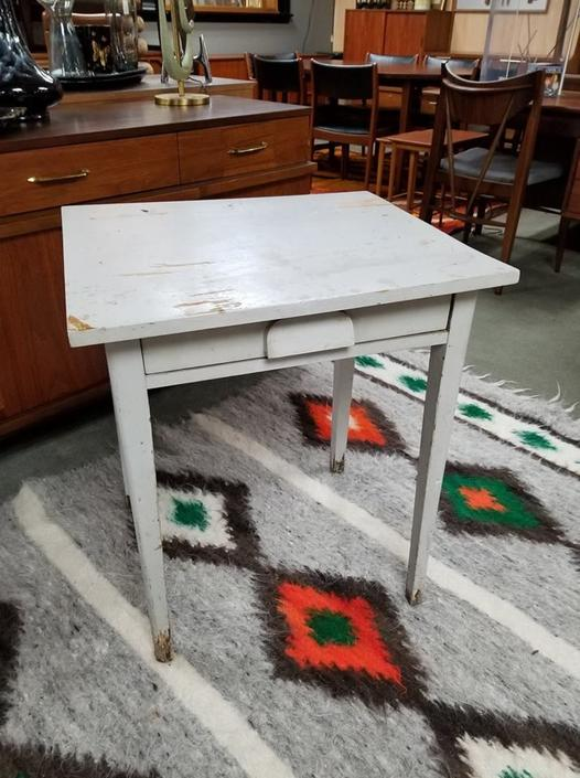 Vintage painted wooden desk / work table