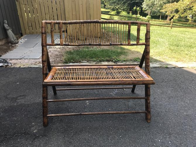 Vintage folding Bamboo settee