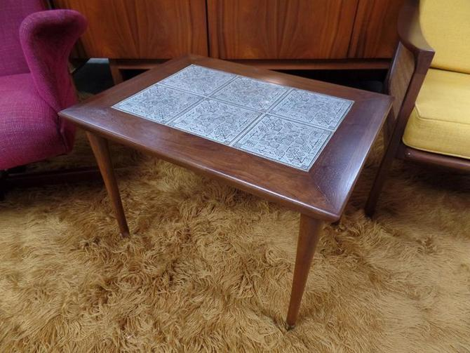 Mid-Century Modern tile top side table