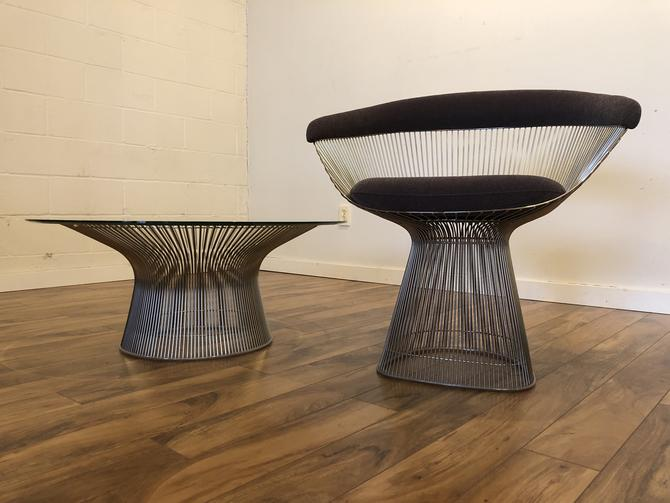 Knoll Platner Chair & Coffee Table