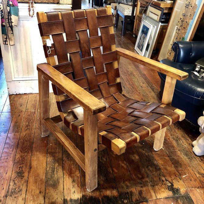 Unique Woven Leather Chair