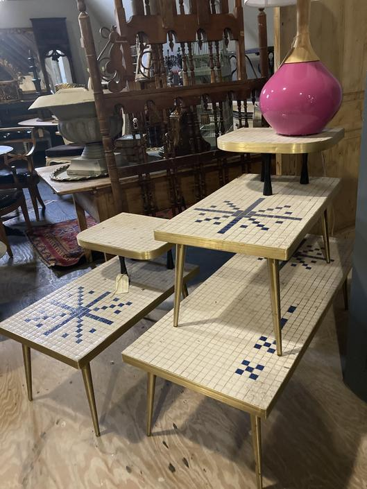 3 Piece Midcentury Table Set