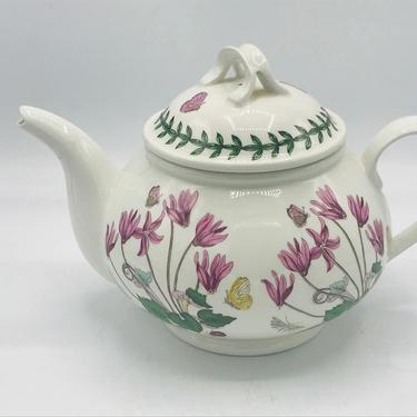 Vintage Botanical Herb Portmeirion Botanic Garden 2 Cup Teapot- Cyclamen Flowers Great Condition - 1972 by JoAnntiques
