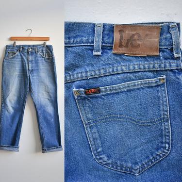 Vintage Broken In Lee Blue Jeans 36x30 by milkandice