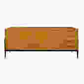 Alfred Hendricks Large Credenza in Italian Fruitwood 1950s