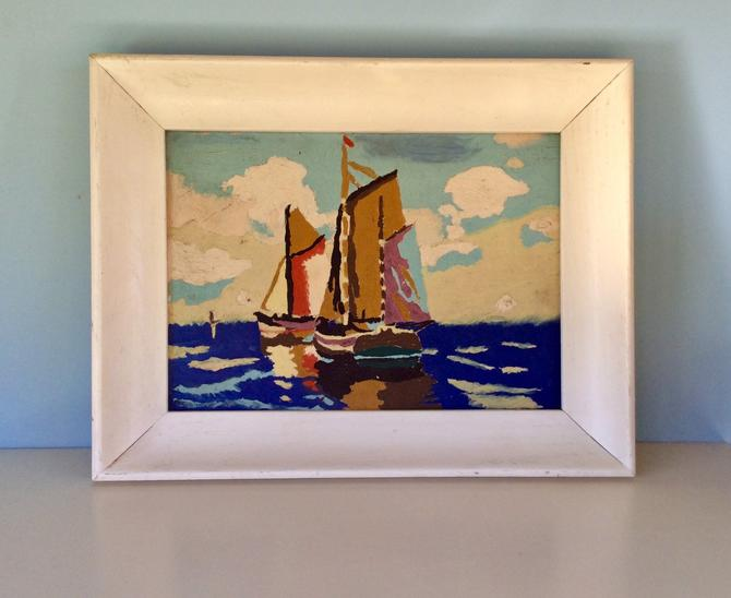 """MCM Paint by Number PBN Sailboats at Sea, Classic 1970s """"Art"""" by nauhaus"""