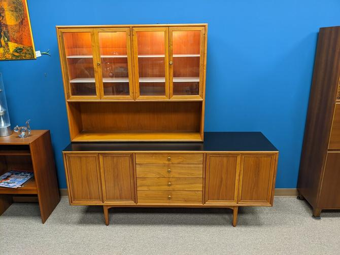 Mid-Century Modern credenza and hutch from the Declaration collection by Kipp Stewert for Drexel