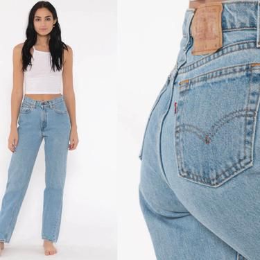 Levis Mom Jeans 26 -- High Waist Jeans 80s Jeans Blue Jeans Levi High Waist Denim Pants 560 Straight Leg 1980s Vintage Small by ShopExile