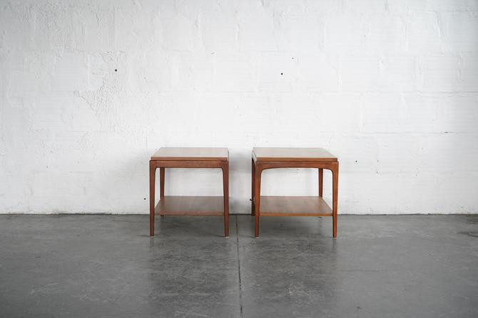 Pair of Lane Walnut Side Tables
