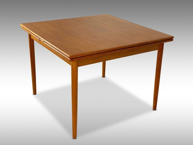 Danish Teak Square Draw Leaf Dining Table - *Please ask for a shipping quote before you buy. by CoolCatVintagePA