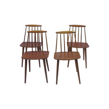 1970s Danish Modern Fdb Mbelfabrik Folke Palsson Dining Chairs - Set of 4 by MetronomeVintage