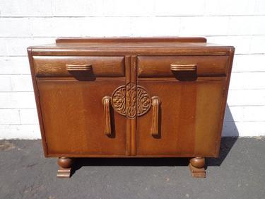 Art Deco Buffet Cabinet Display Case Hutch Buffet Server Media