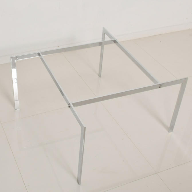 1970s Style of Poul Kjaerholm PK61 Modern Chrome Coffee Table Angled Base by AMBIANIC