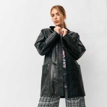 Sibylle Lyn Vintage Mid Length Leather Jacket